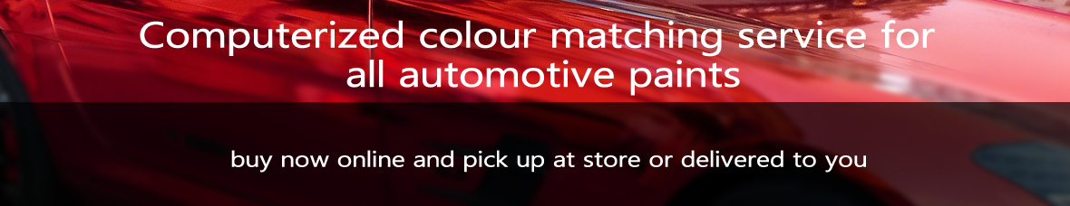 Computerized colour matching service for all automotive paints